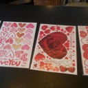 Valentine's Day Window Clings Heart Stickers Decal (review)